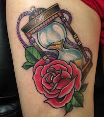 hourglass rose tattoo pictures to pin on pinterest tattooskid