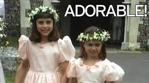 unseen footage of sisters kate and pippa dressed as bridesmaids at