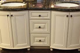 Antique White Bathroom Cabinets   Amp Quot Double Sink - Bathroom cabinet vintage 2