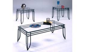 glass end table set matrix black glass coffee table set my furniture place