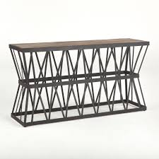 kolmy industrial loft console table in natural u2013 simply austin