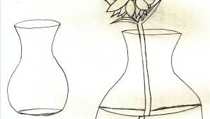 Draw A Flower Vase How To Draw Flowers In A Vase Our Pastimes