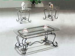 glass end table set glass top 3 piece coffee end table set by acme 8222