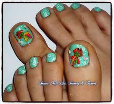 colorful fish toe nail design youtube