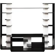 Altra Home Decor Altra Black And White Home Entertainment Center With Two
