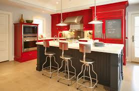 kitchen modern red and white kitchen color ideas in contemporary