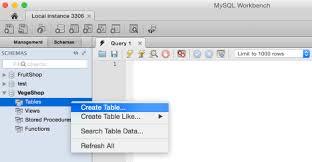 Mysqlwork Bench Create A Table Using Mysql Workbench