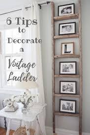 decorating with a vintage ladder gratefully vintage