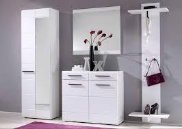 flur garderoben flurgarderoben set 4 teilig in weiß hochglanz lackiert