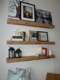 Floating Shelves Kitchen by Storage U0026 Organization 3 Rustic Floating Shelves For Living Area