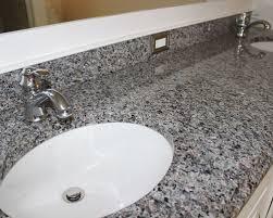 Gray Vanity Top White Master Bath With Gray Granite Countertops