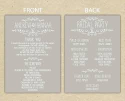 wedding program templates free online template wedding program template