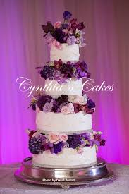 tiered wedding cakes purple tiered wedding cake cynthias cakes llc
