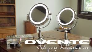 ovente mpt series mirror with multi touch 3 tone led light option
