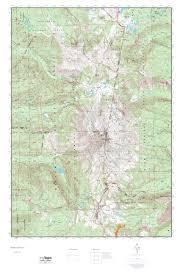 Usgs Topographic Maps Mytopo Mount Jefferson Oregon Usgs Quad Topo Map