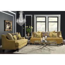 Fabric Sofa Set For Home Furniture Of America Visconti 2 Piece Premium Fabric Sofa And