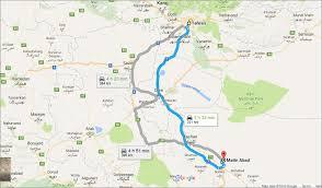 Tehran Map Eco Resort Direction