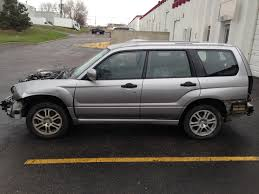 subaru forester silver 2008 subaru forester x sports automatic 151k complete part out