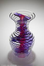 Glass Vase Art Sidney Hutter Colored Laminated Glass Sculptures At Habatat Fine