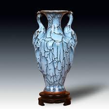 jingdezhen ceramic vase porcelain antique peacock blue glaze vase