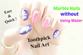 water marble nails art design without using water easy nail art