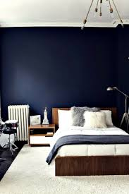 dark blue accent wall bedroom with concept picture 76526 kaajmaaja