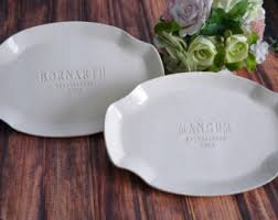 monogrammed platters wedding platter etsy