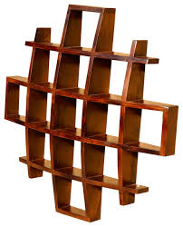 Wooden Wall Shelves Design by Contemporary Wood Display Wall Hanging Shelves Decor Curio Shadow