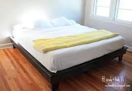 platform bed plans free twin california king frame diy