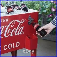 Patio Ice Cooler by Metal Ice Chest Retro Metal Coca Cola Patio Ice Cooler Beverage