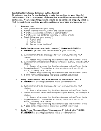 Examples Of Literary Criticism Essays Examples Of Thesis Statements For Literary Analysis Essays