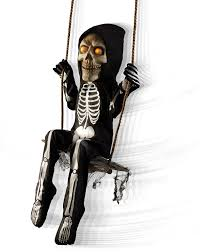 amazon com spirit halloween 3 ft swinging skeleton boy