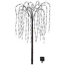 outdoor decorations artificial willow tree with solar