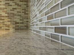sublime brown beige and white hand painted glass mosaic subway