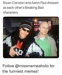 Meme Breaking Bad - bryan cranston and aaron paul dressed as each other s breaking bad