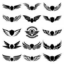 set of design elements design for icon and wing logo vector