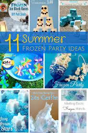 summer frozen party ideas kidz activities