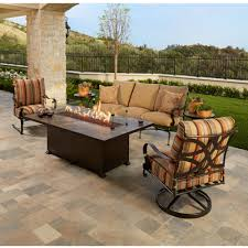 ow lee marquette sofa patio set with fire table ow marquette set5
