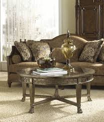 Round Living Room Table by Grecian Style Round Coffee Table With Glass Top By Fine Furniture