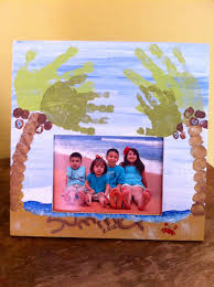 father u0027s day handprint footprint beach and palm trees picture
