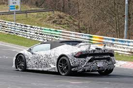 lamborghini huracan features papped lamborghini huracan performante spyder spotted testing by