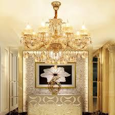 ladari stile antico led giada oro luminaria pendente stile antico ladario villa