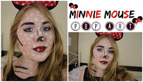 Minnie Mouse Halloween Makeup by Minnie Mouse Pop Art Tutorial Velvet Hearts Youtube