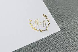 monogram stationery gold foil laurel monogram stationery cerulean press