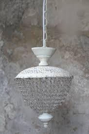 Landhaus Esszimmer Beleuchtung Kronleuchter Lüster Landhaus Shabby Chic Antik Vintage Lampe Weiß