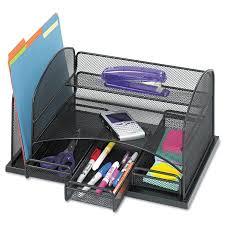 Desk Organizer Shelf by Staples All In One Black Wire Mesh Desk Organizer Walmart Com