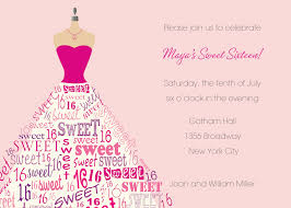 sweet 16th birthday invitations templates free printable drevio