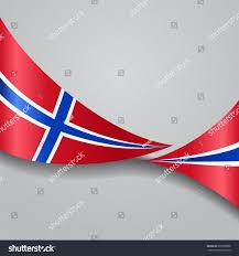 Norweigan Flag Norwegian Flag Wavy Abstract Background Vector Stock Vector