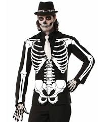 day of the dead costumes skeleton print men s costume jacket day of the dead costume