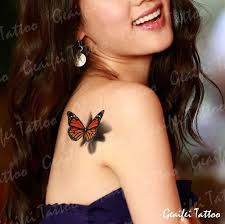 3d butterfly temporary tattoos for neck arm leg cool
